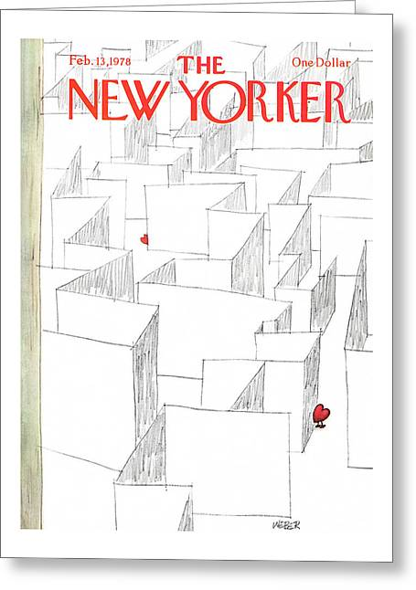 New Yorker February 13th, 1978 Greeting Card