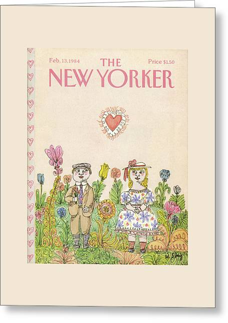 New Yorker February 13th, 1984 Greeting Card by William Steig