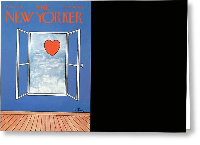 New Yorker February 14th, 1970 Greeting Card by Pierre LeTan