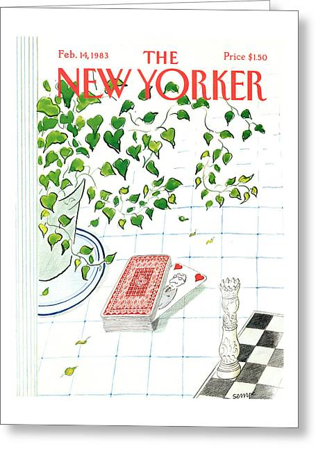New Yorker February 14th, 1983 Greeting Card
