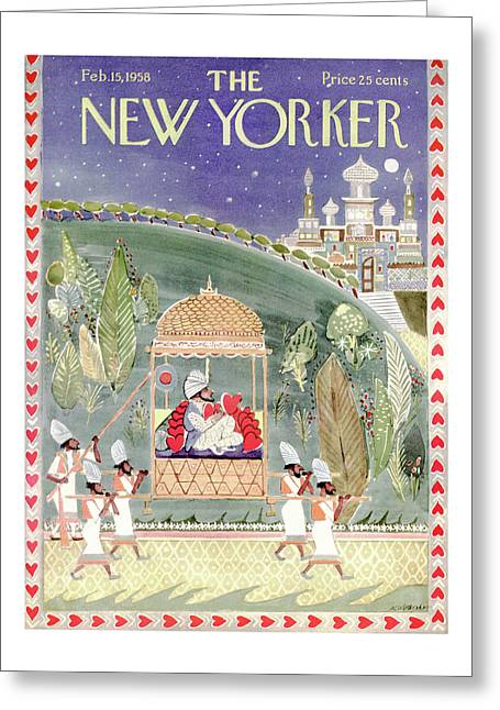 New Yorker February 15th, 1958 Greeting Card