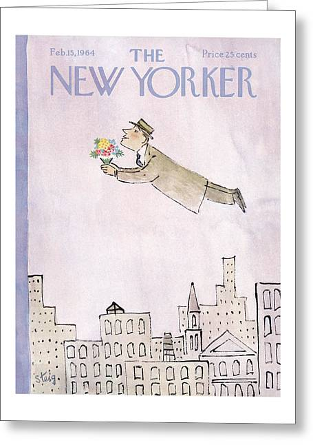 New Yorker February 15th, 1964 Greeting Card