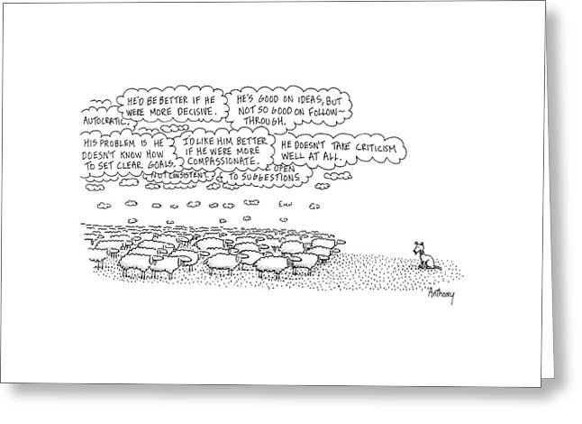 New Yorker February 15th, 1988 Greeting Card by Anthony Taber