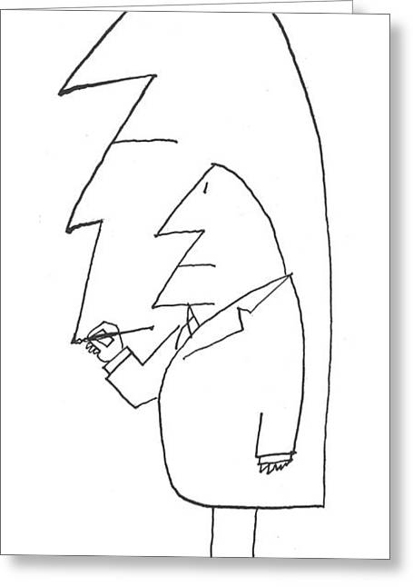 New Yorker February 16th, 1963 Greeting Card by Saul Steinberg