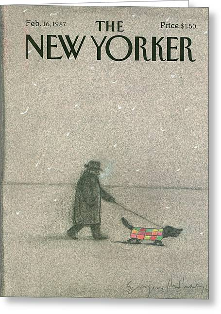 New Yorker February 16th, 1987 Greeting Card