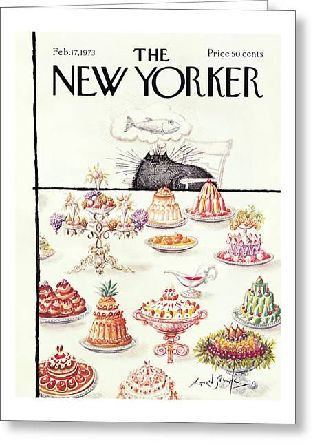 New Yorker February 17th, 1973 Greeting Card