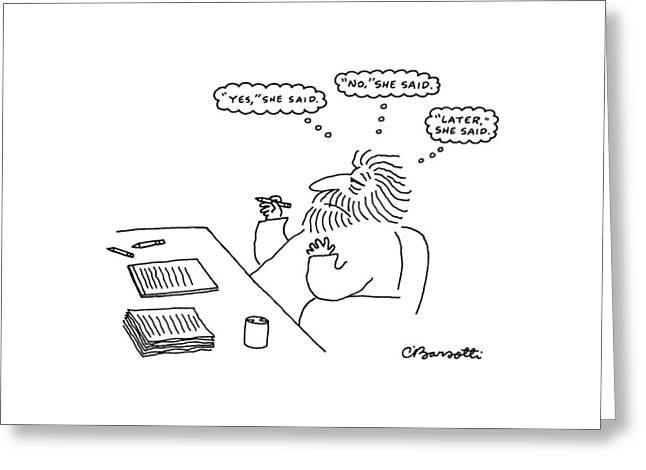 New Yorker February 17th, 1986 Greeting Card by Charles Barsotti