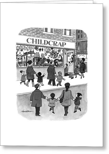 New Yorker February 17th, 1997 Greeting Card by J.B. Handelsman