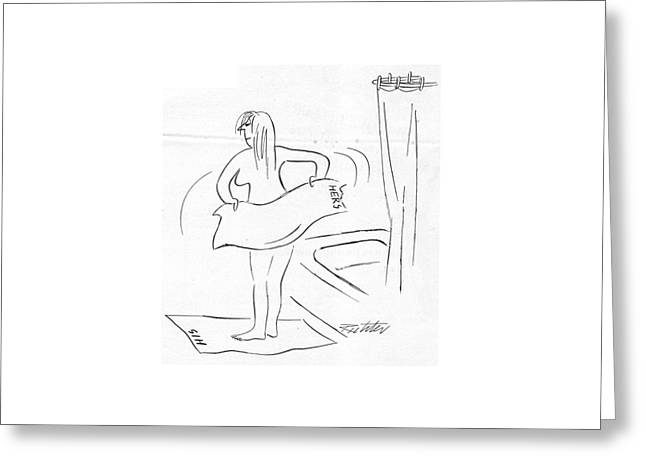 New Yorker February 18th, 1950 Greeting Card by Mischa Richter