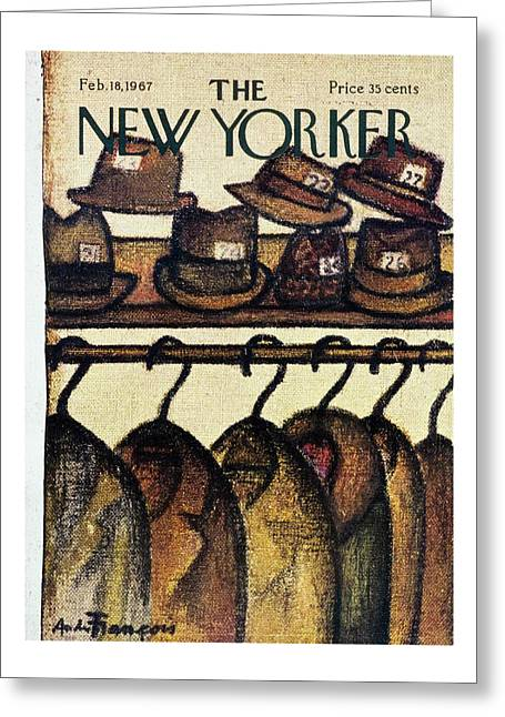 New Yorker February 18th 1967 Greeting Card