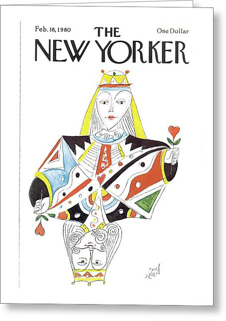 New Yorker February 18th, 1980 Greeting Card