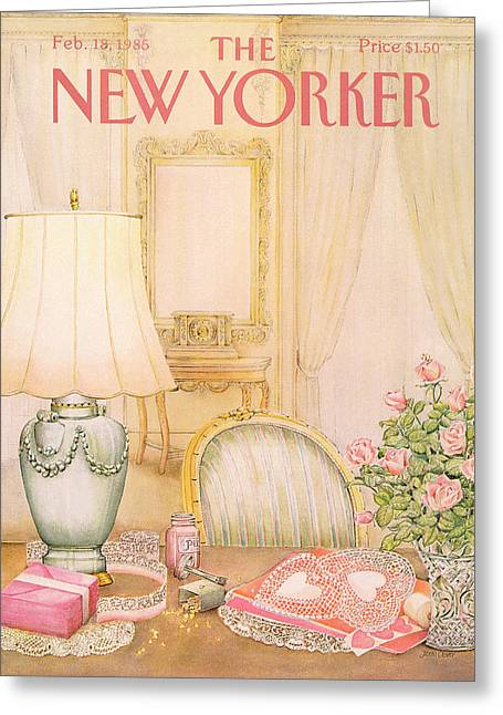 New Yorker February 18th, 1985 Greeting Card by Jenni Oliver
