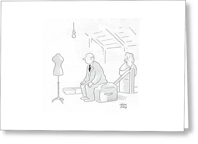 New Yorker February 19th, 1944 Greeting Card by Chon Day