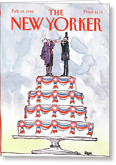 New Yorker February 19th, 1990 Greeting Card