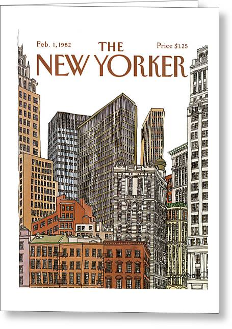 New Yorker February 1st, 1982 Greeting Card