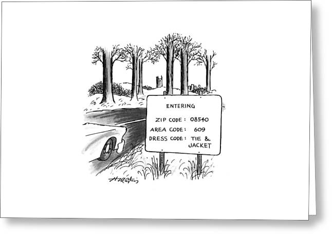 New Yorker February 1st, 1993 Greeting Card by Henry Martin