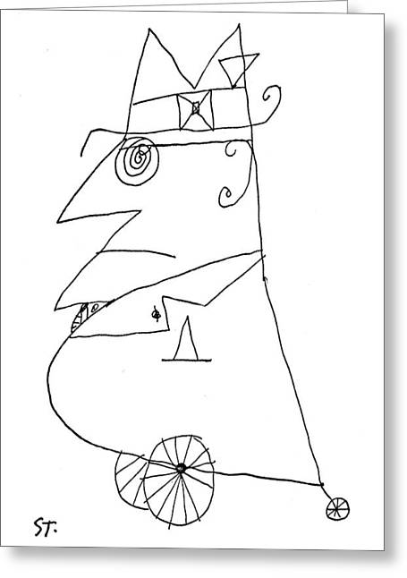 New Yorker February 20th, 1960 Greeting Card by Saul Steinberg