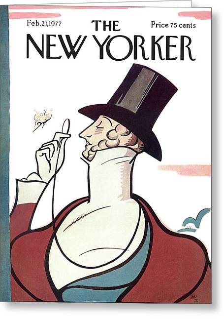 New Yorker February 21st, 1977 Greeting Card by Rea Irvin