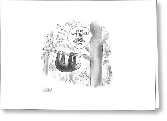 New Yorker February 22nd, 1988 Greeting Card by Sam Gross