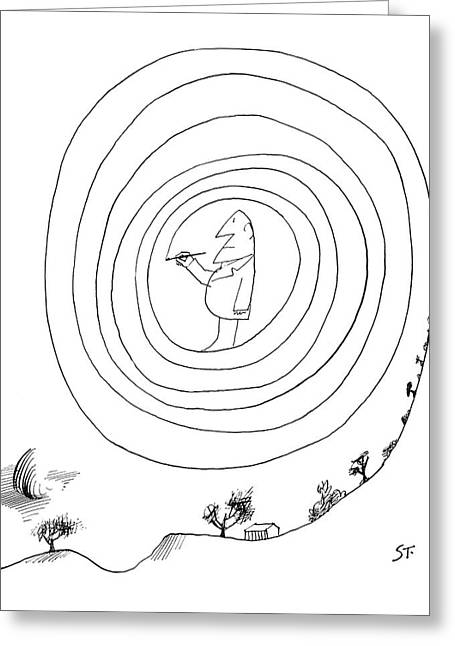 New Yorker February 23rd, 1963 Greeting Card by Saul Steinberg
