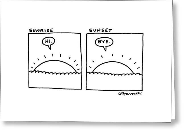 New Yorker February 23rd, 1987 Greeting Card by Charles Barsotti