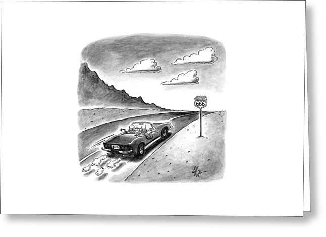 New Yorker February 23rd, 1998 Greeting Card by Frank Cotham