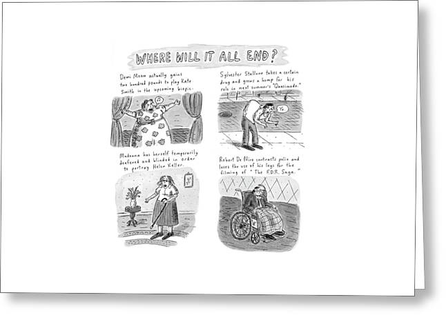 New Yorker February 23rd, 1998 Greeting Card by Roz Chast