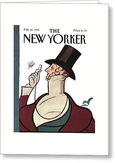 New Yorker February 24th, 1992 Greeting Card by Rea Irvin