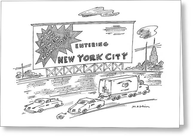 New Yorker February 24th, 1997 Greeting Card