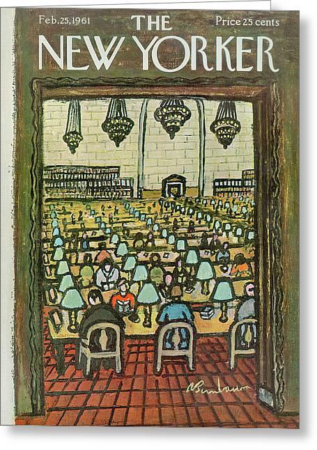 New Yorker February 25th, 1961 Greeting Card by Abe Birnbaum