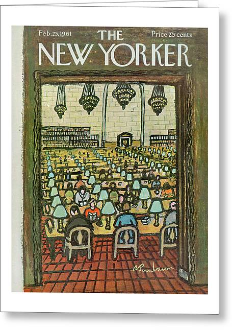 New Yorker February 25th, 1961 Greeting Card
