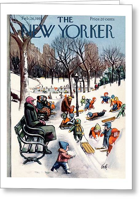New Yorker February 26th, 1955 Greeting Card