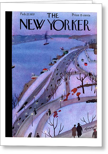 New Yorker February 27th, 1937 Greeting Card