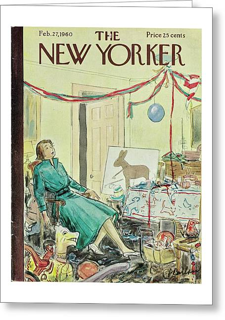 New Yorker February 27th 1960 Greeting Card