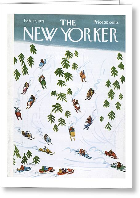 New Yorker February 27th, 1971 Greeting Card