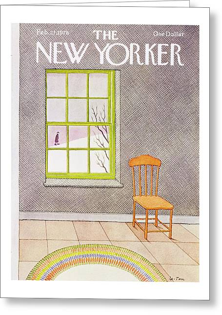 New Yorker February 27th 1978 Greeting Card by Pierre Le-Tan