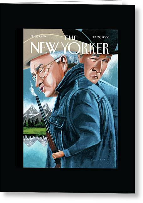 New Yorker February 27th, 2006 Greeting Card by Mark Ulriksen