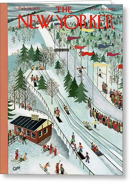 New Yorker February 28th, 1953 Greeting Card by Charles E. Martin