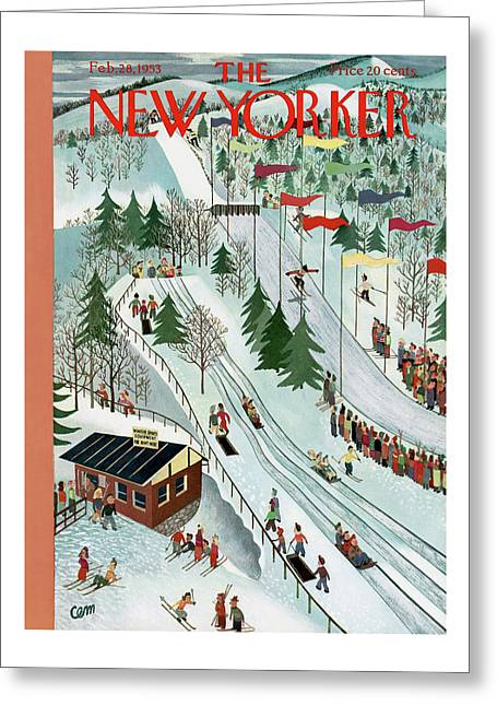 New Yorker February 28th, 1953 Greeting Card