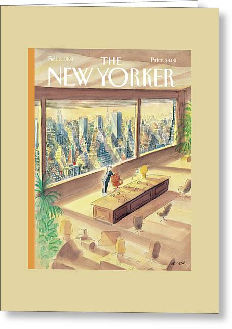 New Yorker February 2nd, 1998 Greeting Card by Jean-Jacques Sempe