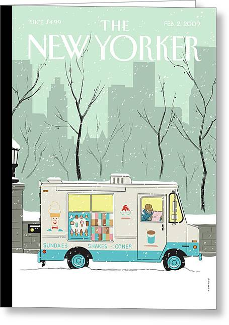 New Yorker February 2nd, 2009 Greeting Card