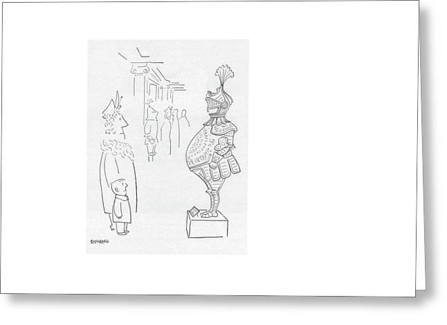 New Yorker February 3rd, 1951 Greeting Card by Saul Steinberg