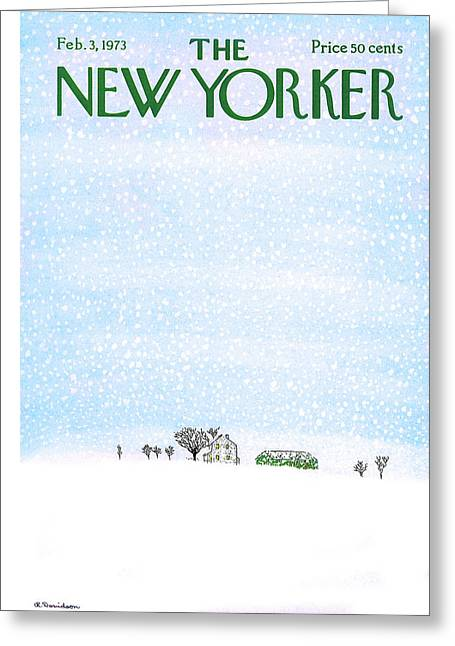 New Yorker February 3rd, 1973 Greeting Card