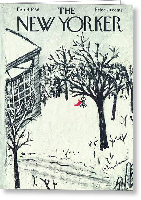 New Yorker February 4th, 1956 Greeting Card