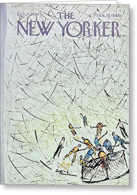 New Yorker February 4th 1967 Greeting Card by Aaron Birnbaum