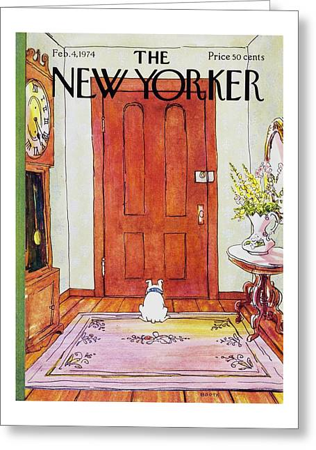 New Yorker February 4th 1974 Greeting Card