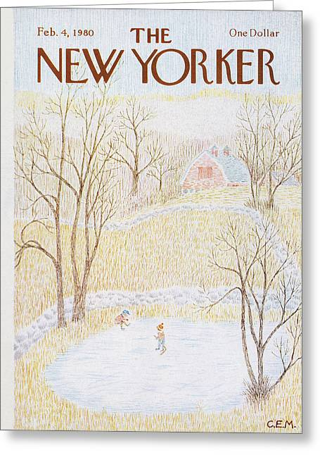 New Yorker February 4th, 1980 Greeting Card