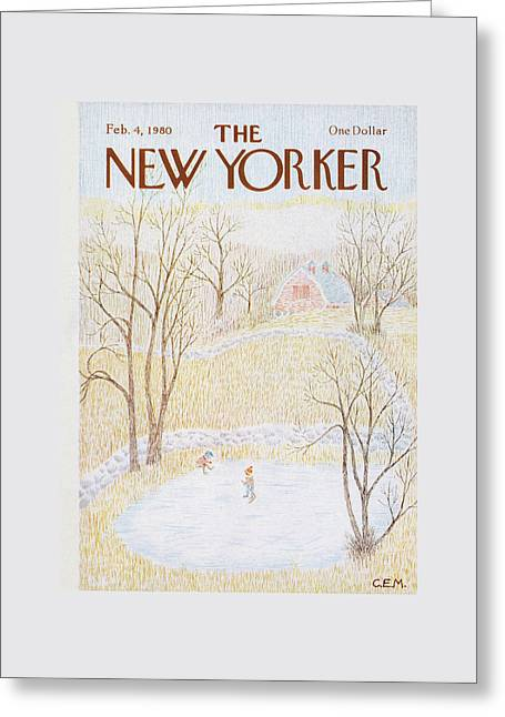 New Yorker February 4th, 1980 Greeting Card by Charles E. Martin