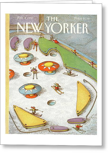 New Yorker February 4th, 1991 Greeting Card