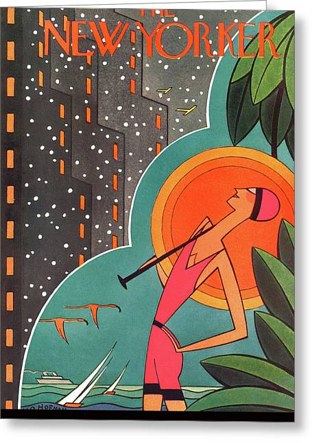 New Yorker February 5th, 1927 Greeting Card by H.O. Hofman